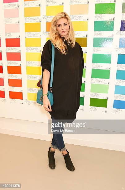 Tamsin Egerton attends a VIP preview of the Frieze Art Fair 2015 in Regent's Park on October 13 2015 in London England