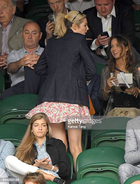 Tamsin Egerton attends day eight of the Wimbledon Tennis Championships at Wimbledon on July 04 2016 in London England