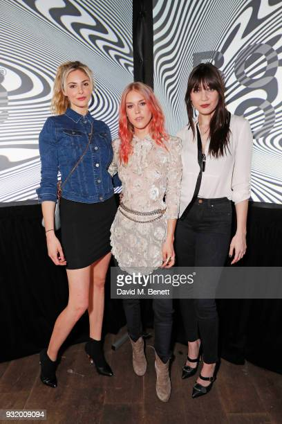 Tamsin Egerton Mary Charteris and Daisy Lowe attend the Lee Body Optix by Lee Jeans dinner at The London EDITION on March 14 2018 in London England