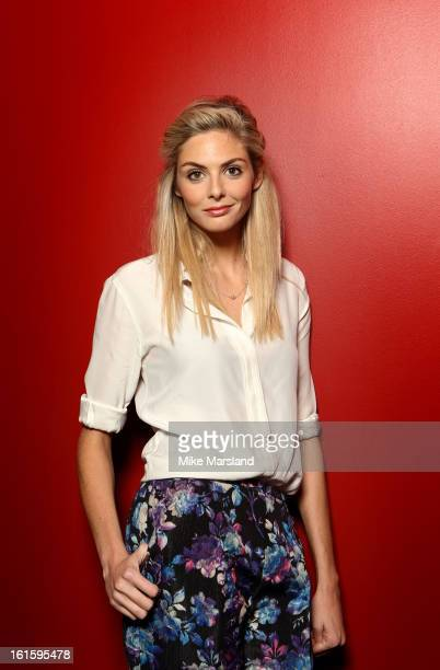 Tamsin Egerton poses in the portrait studio at the Pre-Bafta party hosted by EE and Esquire ahead of the 2013 EE British Academy Film Awards at The...