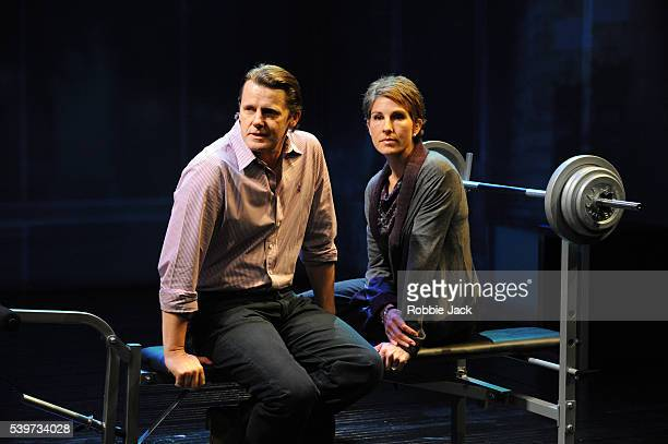 Tamsin Greig and Anthony Calf perform in David Hare's play 'Gethsemane' directed by Howard Davies at the National Theatre in London