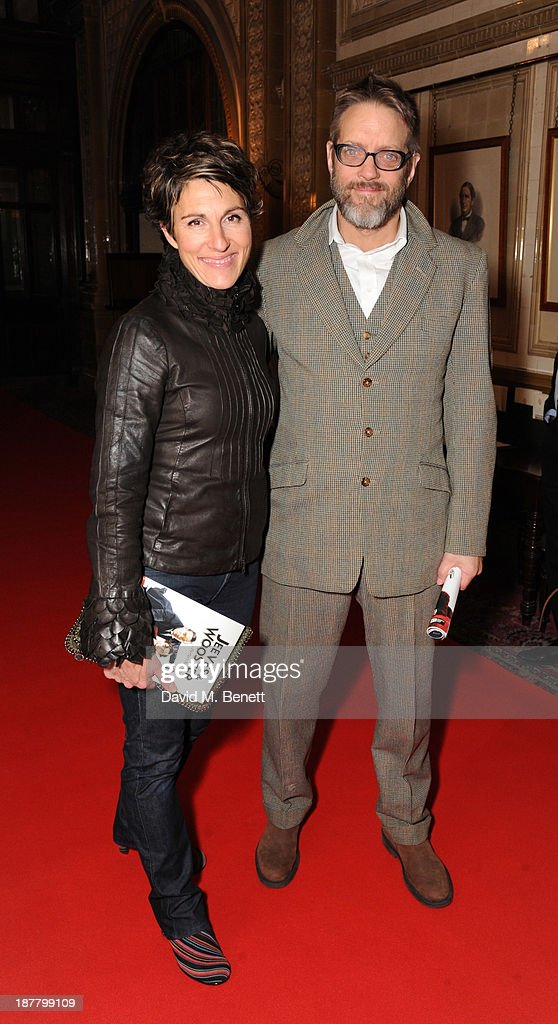 Tamsin Greig and Richard Leaf attends an after party celebrating the press night performance of 'Perfect Nonsense' at the The Royal Horseguards on November 12, 2013 in London, England.