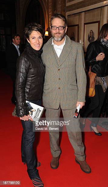 Tamsin Greig and Richard Leaf attends an after party celebrating the press night performance of 'Perfect Nonsense' at the The Royal Horseguards on...