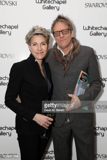 Tamsin Greig and Rick Leaf attend a glamorous gala dinner at Whitechapel Gallery as Rachel Whiteread is celebrated as the recipient of the...