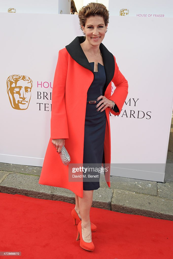 Tamsin Greig attends the House of Fraser British Academy Television Awards at Theatre Royal, Drury Lane, on May 10, 2015 in London, England.