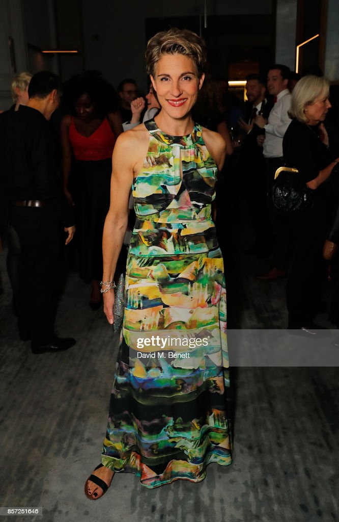 Tamsin Greig attends the press night after party for 'Labour Of Love' at The National Cafe on October 3, 2017 in London, England.