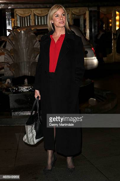 Tamsin Outhwaite attends 'Kate Moss At The Savoy' an exhibition of never before seen photographies of Kate Moss at The Savoy Hotel on January 30 2014...