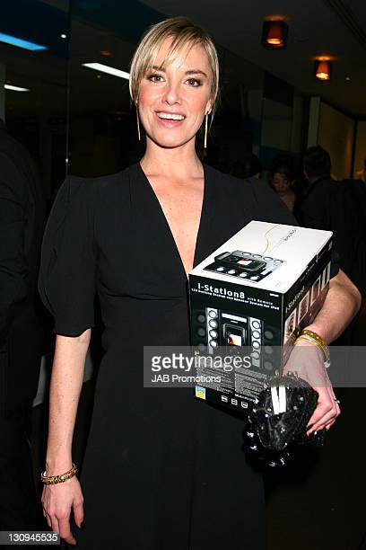 Tamsin Outhwaite backstage in the Sultans of Swag Gift Lounge at the 2006 British Comedy Awards
