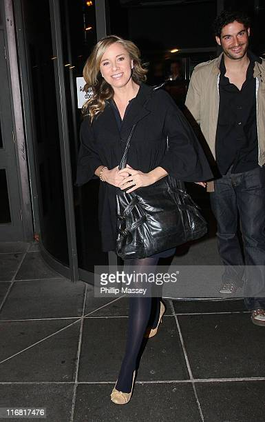 Tamsin Outhwaite leaves the RTE Studios after the recording of the Late Late Show on March 7, 2008 in Dublin, Ireland.
