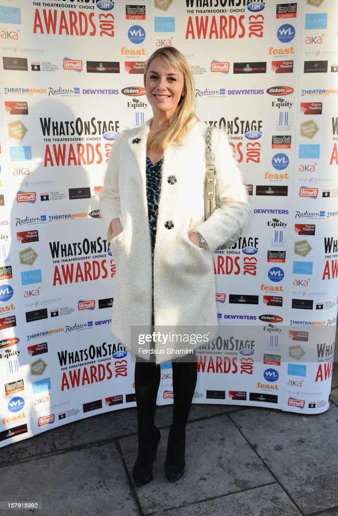 Tamsin Outwaite attends the Whatsonstage.com Theatre Awards nominations launch at Cafe de Paris on December 7, 2012 in London, England.