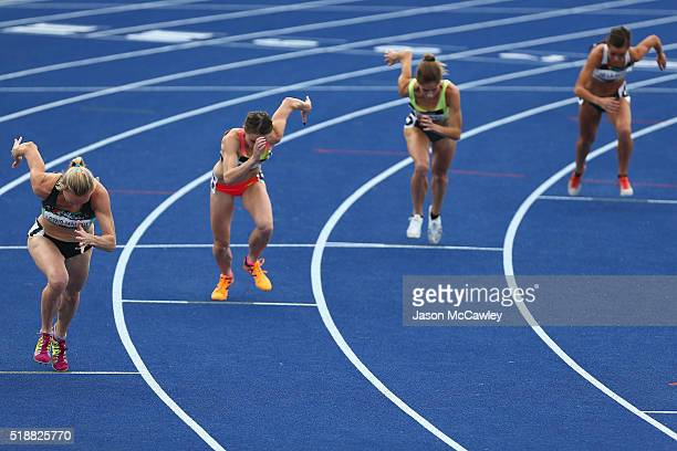 Tamsyn LewisManou of Victoria competes in the womens 800m final during the Australian Athletics Championships at Sydney Olympic Park on April 3 2016...