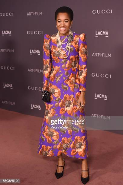 Tamu McPherson attends the 2017 LACMA Art Film Gala Honoring Mark Bradford And George Lucas at LACMA on November 4 2017 in Los Angeles California