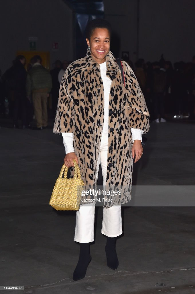 Tamu McPherson attends the Diesel Black Gold show during Milan Men's Fashion Week Fall/Winter 2018/19 on January 13, 2018 in Milan, Italy.