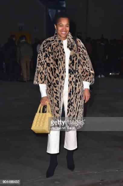 Tamu McPherson attends the Diesel Black Gold show during Milan Men's Fashion Week Fall/Winter 2018/19 on January 13 2018 in Milan Italy