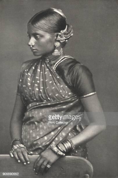'Tamulin mit Schmuck' 1926 Tamil woman wearing jewellery From Der Indische Kulturkreis in Einzeldarstellungen [Georg Muller Munich 1926] Artist...