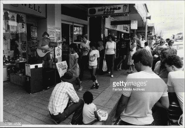 Tamworth Country Music FestivalColin Thomas busks in Peel St January 23 1986