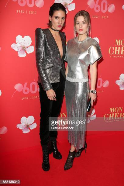Tamy Glauser and her girlfriend Dominique Rinderknecht Tamynique during the Mon Cheri Barbara Tag at Postpalast on November 30 2017 in Munich Germany