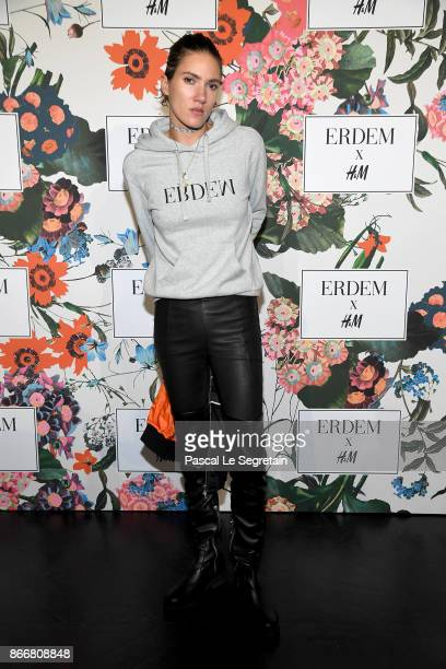 Tamy Glauser attends ERDEM X H&M Paris Collection Launch at Hotel du Duc on October 26, 2017 in Paris, France.