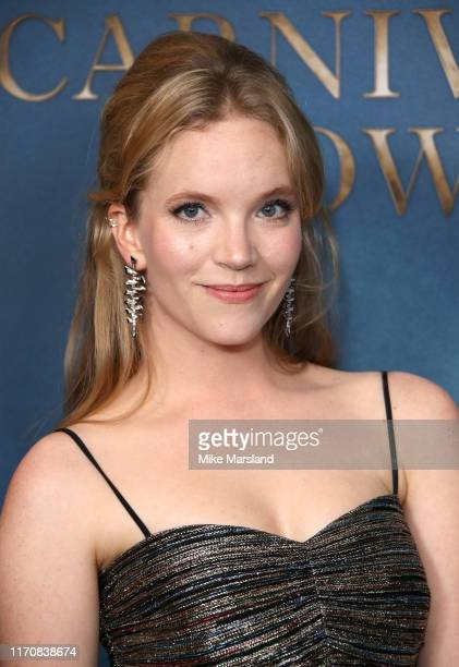 Tamzin Merchant attends the Carnival Row London Premiere at The Ham Yard Hotel on August 28 2019 in London England