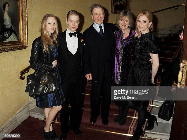 Tamzin Merchant Freddie Fox Edward Fox Joanna David and Emilia Fox attend an after party celebrating the Gala Performance of Noel Coward's 'Hay...