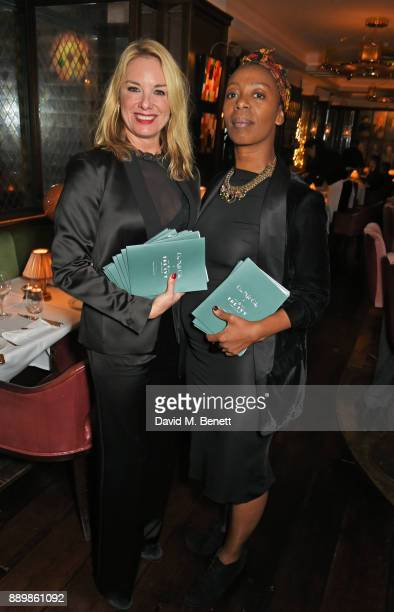 Tamzin Outhwaite and Noma Dumezweni attend 'One Night Only At The Ivy' in aid of Acting for Others on December 10 2017 in London England