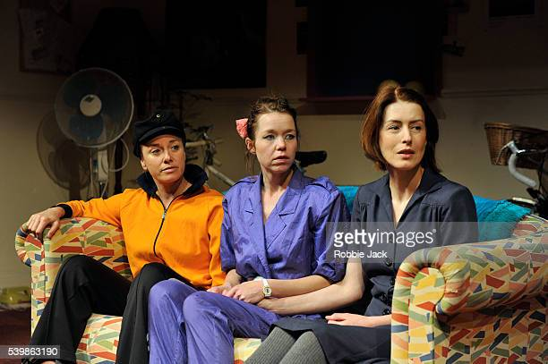 Tamzin Outhwaite as Di Anna Maxwell Martin as Rose and Gina McKee as Viv in Amelia Bullmore's Di and Viv and Rose directed by Anna Mackmin at the...