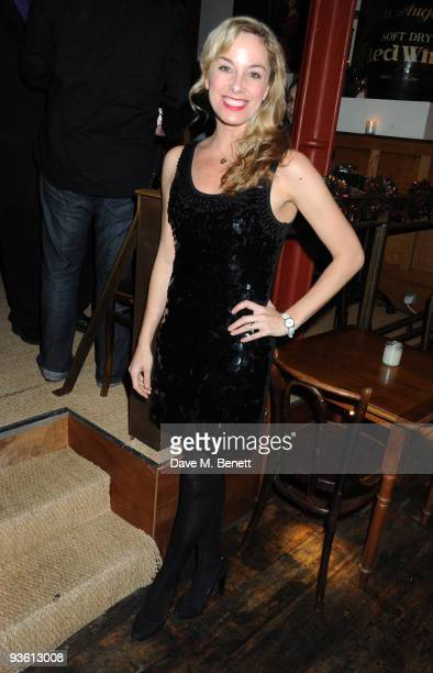 """Tamzin Outhwaite attends the press night of """"Sweet Charity"""" at The Chocolate Factory on December 2, 2009 in London, England."""