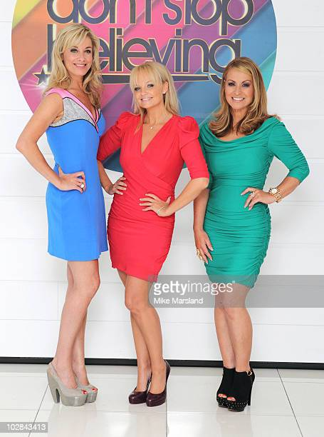 Tamzin Outhwaite, Emma Bunton and Anastacia attend photocall to launch new TV talent contest - Don't Stop Believing on July 13, 2010 in London,...