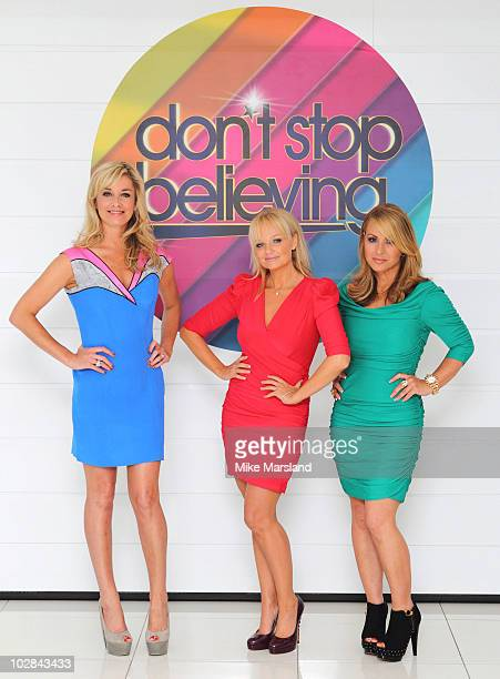 Tamzin Outhwaite Emma Bunton and Anastacia attend photocall to launch new TV talent contest Don't Stop Believing on July 13 2010 in London England