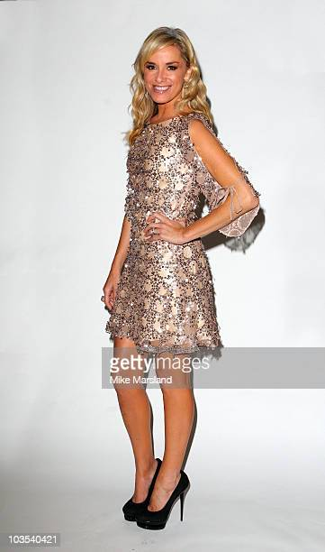 ACCESS*** Tamzin Outhwaite on set of Five TV's 'Don't Stop Believing' at Maidstone Studio's on August 22 2010 in Maidstone England
