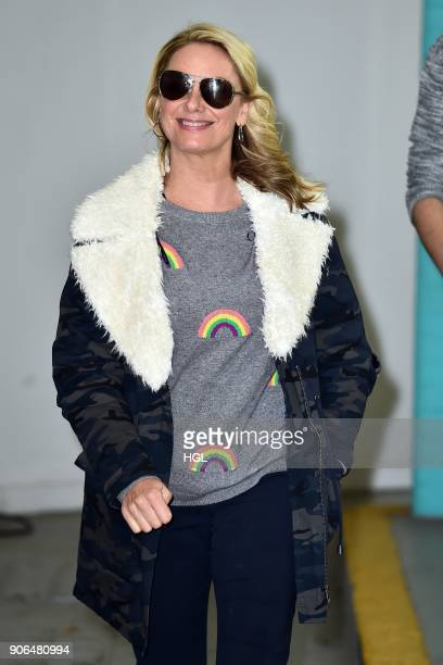 Tamzin Outhwaite seen at the ITV Studios on January 18 2018 in London England