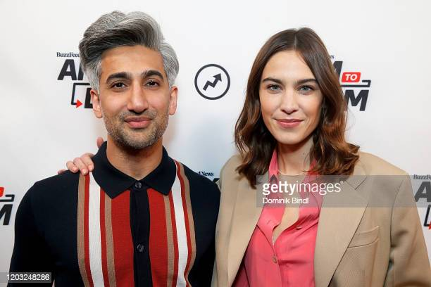 """Tan France and Alexa Chung attend BuzzFeed's """"AM To DM"""" on January 31, 2020 in New York City."""