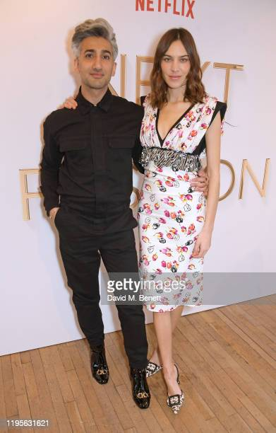 """Tan France and Alexa Chung attend the launch of Alexa Chung and Tan Frances' new Netflix x NET-A-PORTER series """"Next In Fashion"""" at Mortimer House on..."""