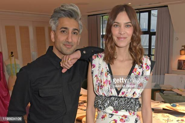 "Tan France and Alexa Chung attend the launch of Alexa Chung and Tan Frances' new Netflix x NET-A-PORTER series ""Next In Fashion"" at Mortimer House on..."