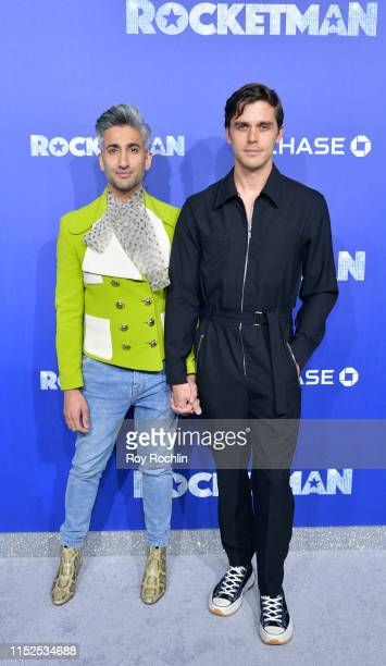 """Tan France and Antoni Porowski attend the US Premiere of """"Rocketman"""" at Alice Tully Hall on May 29, 2019 in New York, New York."""