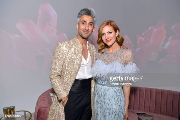 Tan France and Brittany Snow attend the 2019 Netflix Primetime Emmy Awards After Party at Milk Studios on September 22, 2019 in Los Angeles,...