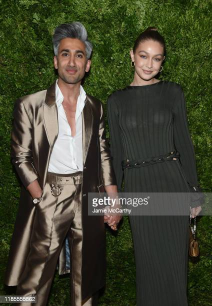 Tan France and Gigi Hadid attend the CFDA / Vogue Fashion Fund 2019 Awards at Cipriani South Street on November 04, 2019 in New York City.