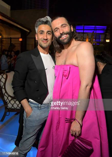 Tan France and Jonathan Van Ness attend the 2019 Netflix Creative Arts Emmy After Party at Hotel Figueroa on September 15 2019 in Los Angeles...