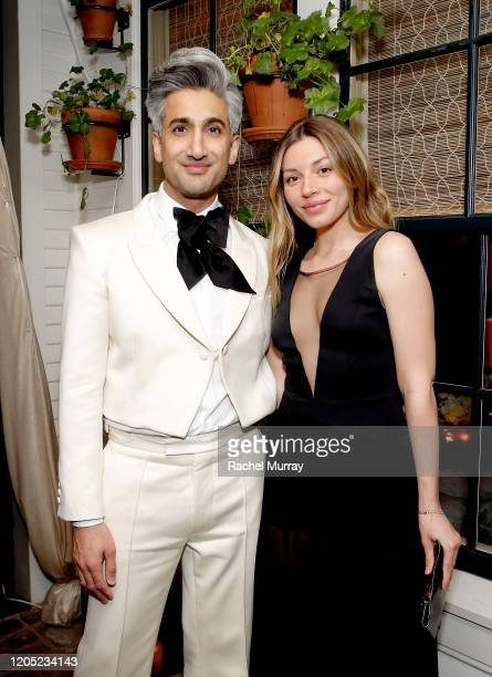 Tan France and Sarah Sarandos attends the 2020 Netflix Oscar After Party at San Vicente Bugalows on February 09 2020 in West Hollywood California