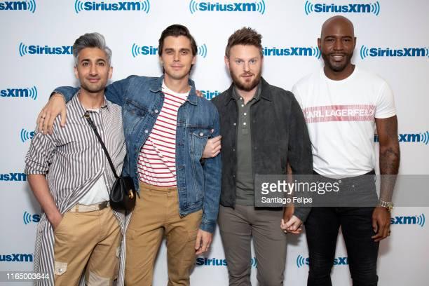 Tan France, Antoni Porowski, Bobby Berk and Karamo Brown of 'Queer Eye for The Straight Guy' visit SiriusXM Studios on July 29, 2019 in New York City.