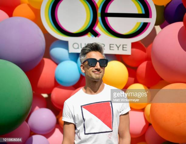 Tan France attends Netflix's Queer Eye and GLSEN event at NeueHouse Hollywood on August 12, 2018 in Hollywood, California.