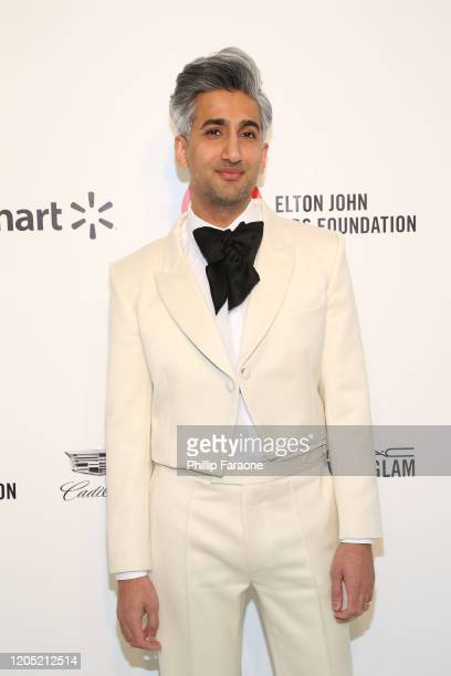 Tan France attends the 28th Annual Elton John AIDS Foundation Academy Awards Viewing Party Sponsored By IMDb Neuro Drinks And Walmart on February 09...