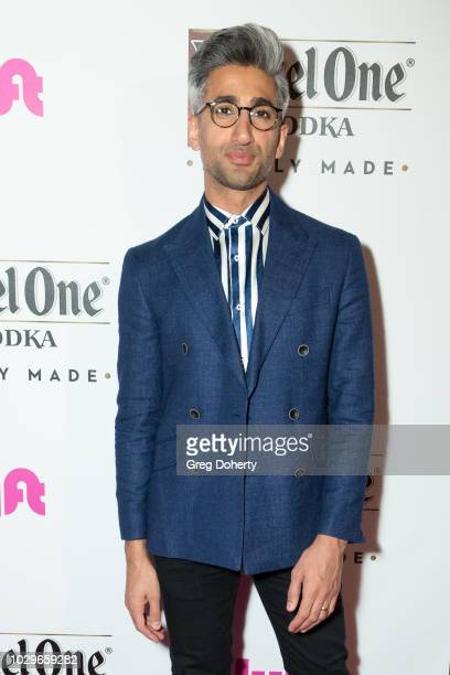 Tan France attends the Ketel One FamilyMade Vodka Celebrates Queer Eye Cast At PreEmmy Party at Kimpton La Peer Hotel on September 8 2018 in West...