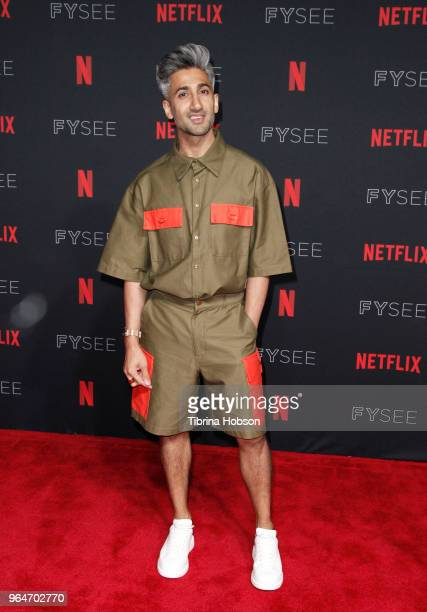 Tan France attends the NETFLIXFYSEE event for 'Queer Eye' at Netflix FYSEE At Raleigh Studios on May 31, 2018 in Los Angeles, California.