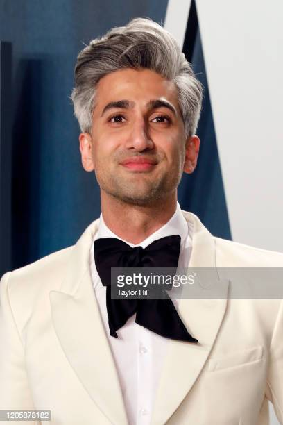 Tan France attends the Vanity Fair Oscar Party at Wallis Annenberg Center for the Performing Arts on February 09 2020 in Beverly Hills California