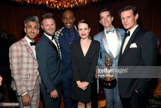 Tan France Bobby Berk Karamo Brown Claire Foy John Mulaney and Matt Smith attend the 2018 Netflix Primetime Emmys After Party at NeueHouse Hollywood...
