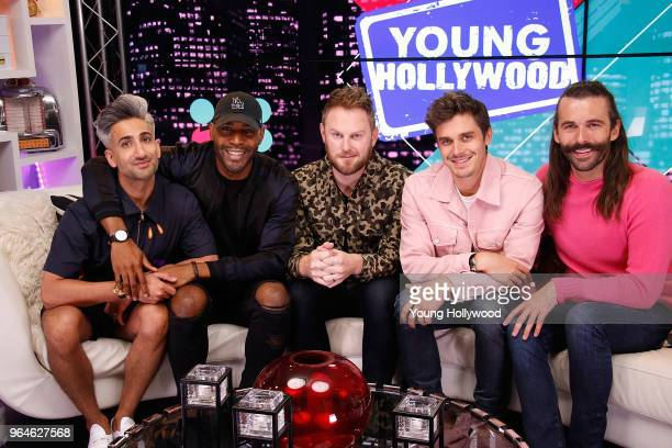 Tan France Karamo Brown Bobby Berk Antoni Porowski and Jonathan Van Ness from 'Queer Eye' visits the Young Hollywood Studio on May 31 2017 in Los...