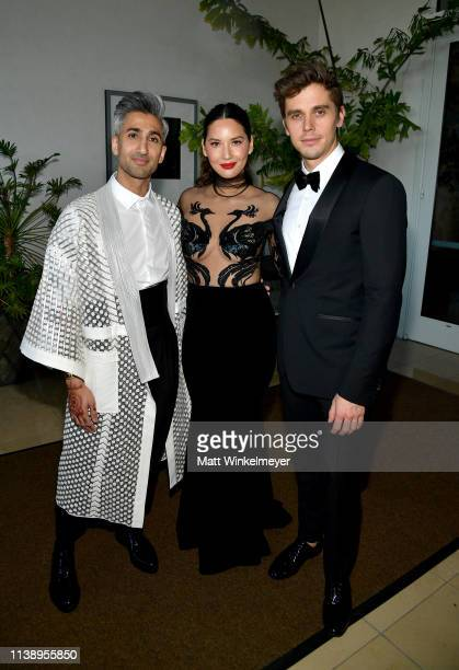 Tan France Olivia Munn and Antoni Porowski attend the 30th Annual GLAAD Media Awards Los Angeles at The Beverly Hilton Hotel on March 28 2019 in...