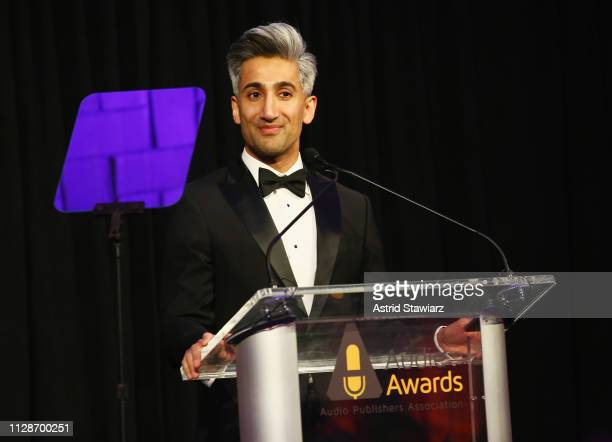 Tan France speaks onstage during Tan France hosts the 2019 Audie Awards at Gustavino's on March 4, 2019 in New York City.