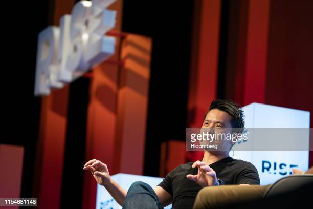 Tan Min-Liang, chief executive officer and co-founder of Razer Inc., speaks on stage at the Rise conference in Hong Kong, China, on Tuesday, July 9,...